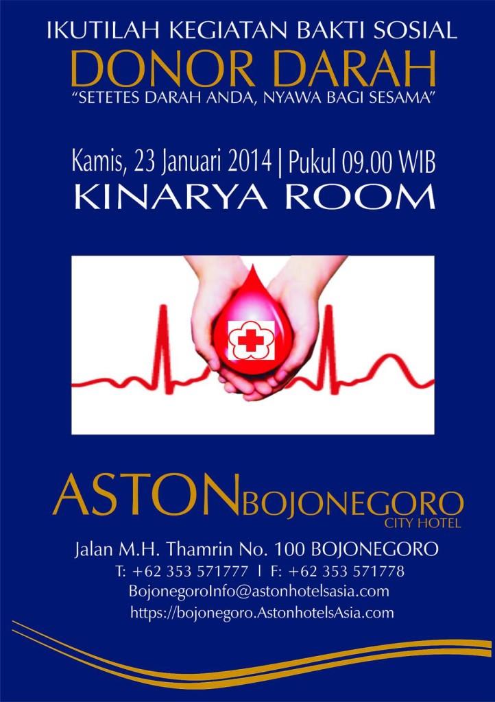 Bakti Sosial Donor Darah di Hotel ASTON