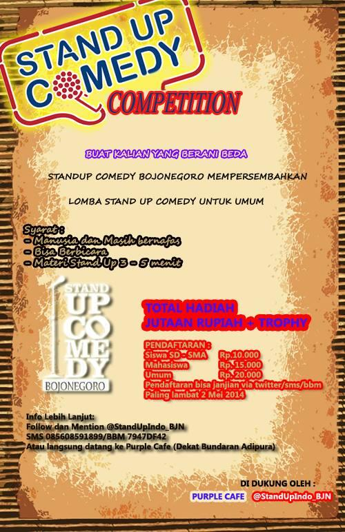 Stand Up Comedy Competition Bojonegoro