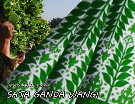 Batik Jonegoroan sata-ganda-wangi