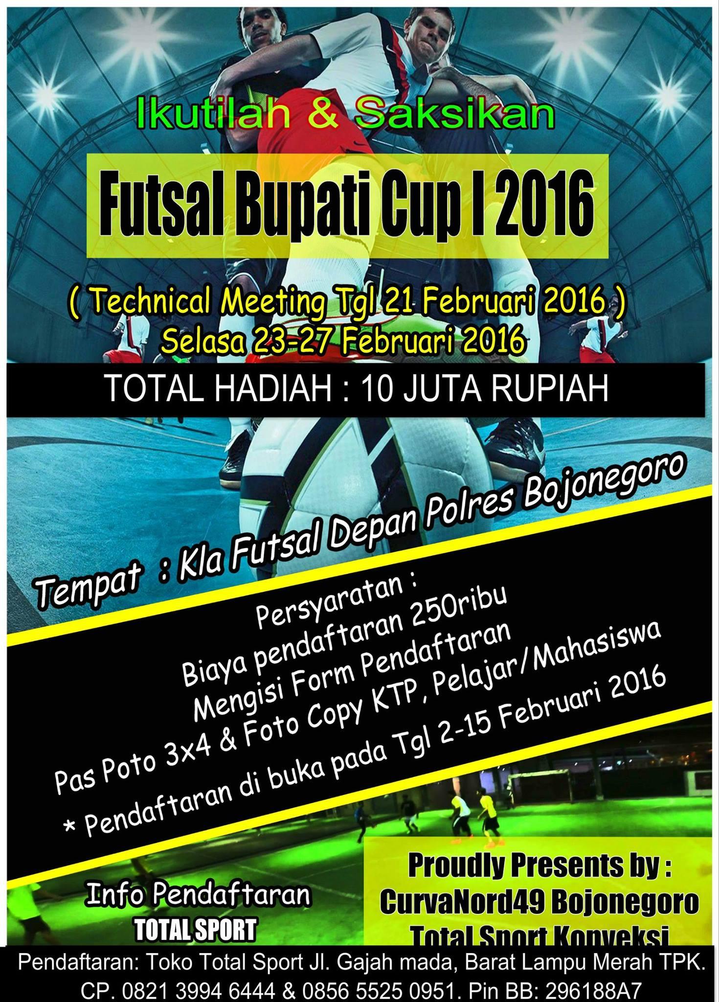 Turnamen Futsal Futsal Bupati Cup 2016 Bojonegoro