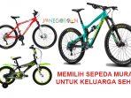 Sepeda Murah Untuk Keluarga