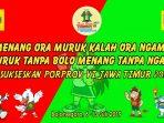 Banner Porprov Jatim 2019 Bojonegoro